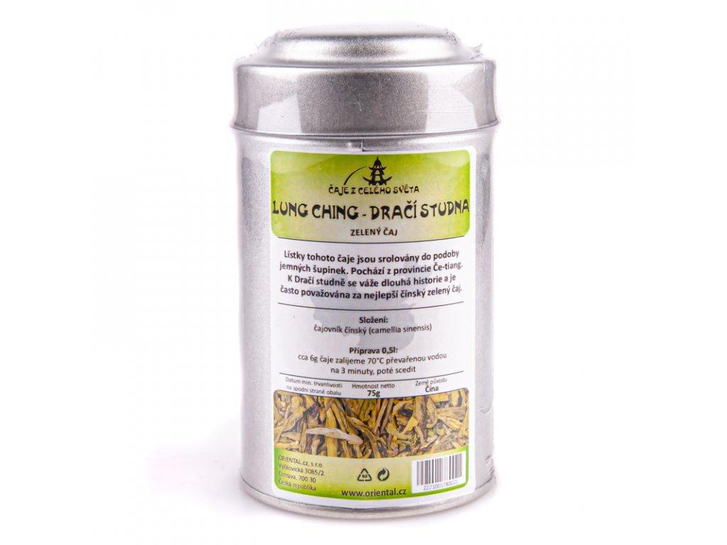 Čínský zelený čaj Lung Ching - Dračí studna 75 g dóza