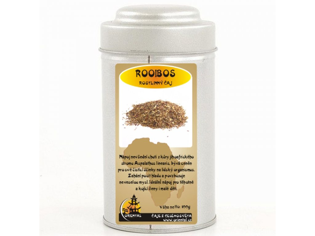 Rostlinný čaj Roibos 100 g dóza