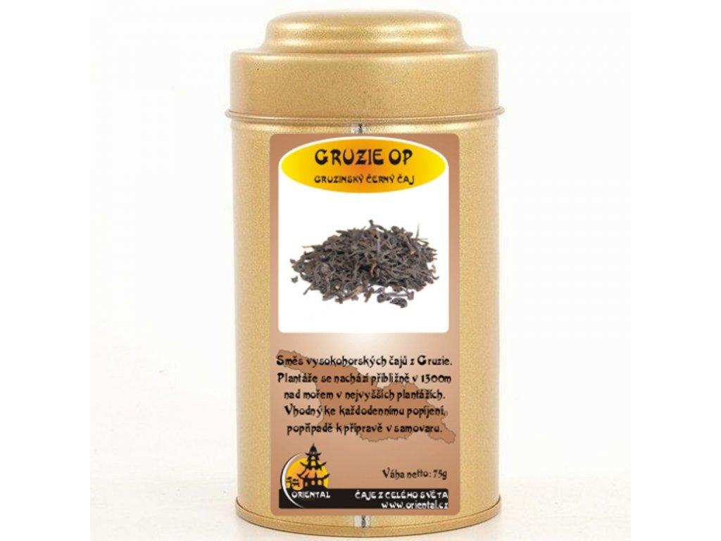 Gruzínský černý čaj pravý 75 g dóza