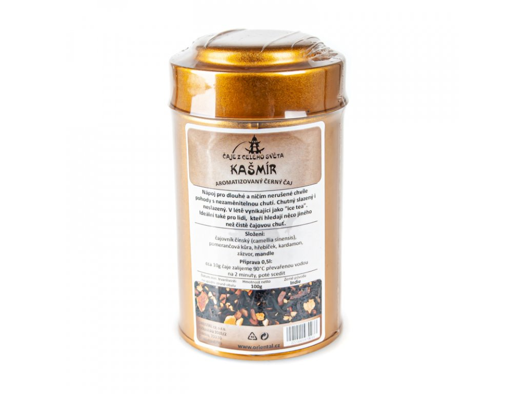 Čínský ochucený čaj Kašmír 100 g dóza