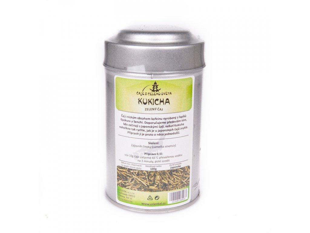 Japonský zelený čaj Kukicha 100 g dóza
