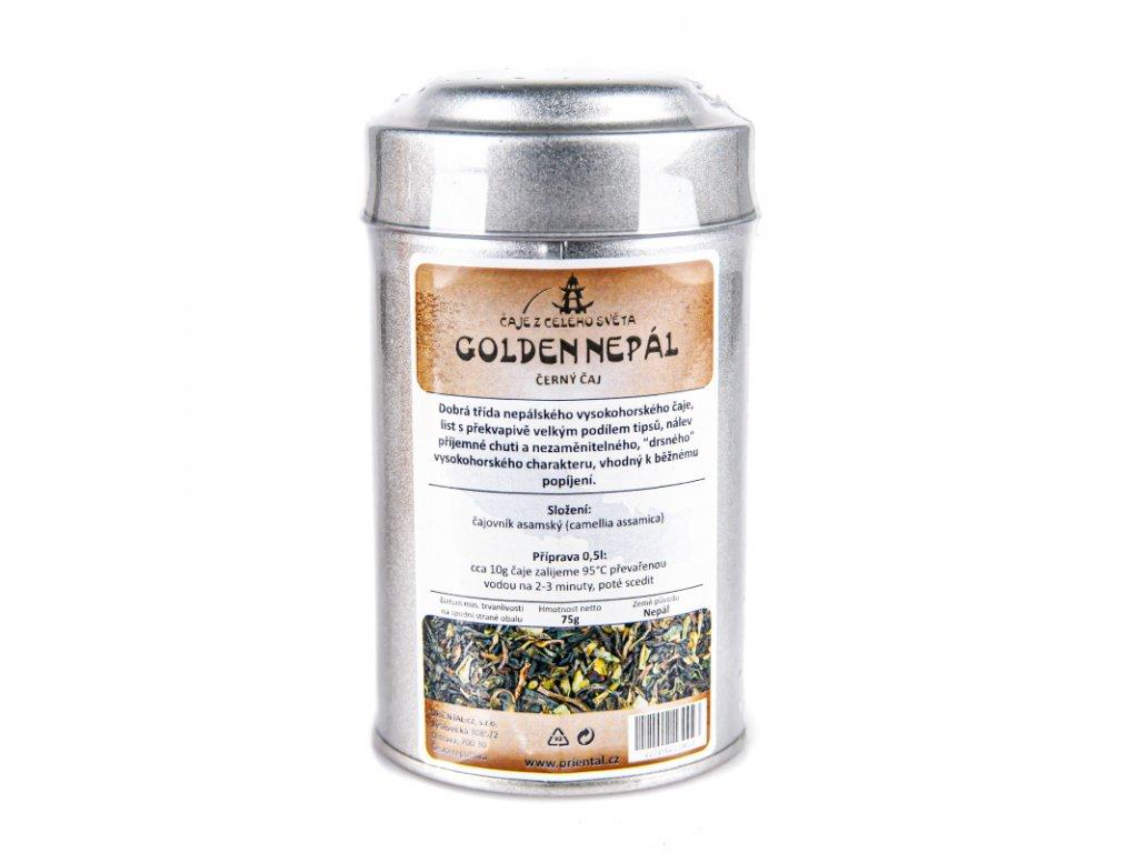 Nepálský černý čaj Golden Nepal 75 g dóza