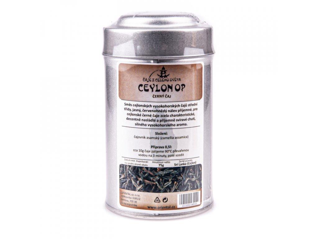 Cejlonský černý čaj OP 75 g dóza