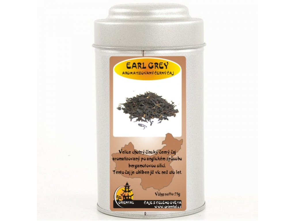 Černý čaj Earl Grey 75 g dóza