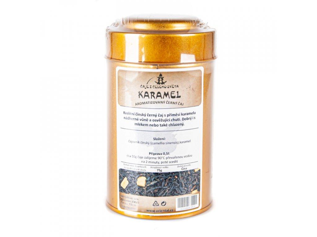 Černý čaj Karamelový 75 g dóza