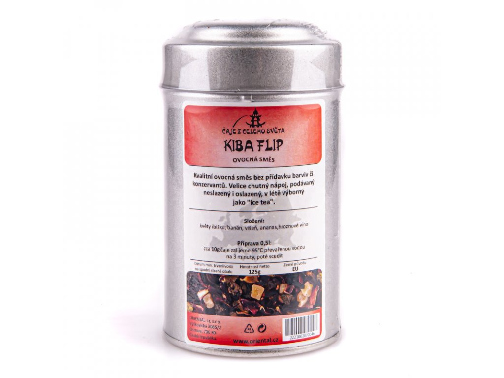 Ovocný čaj Kiba Flip 125 g dóza