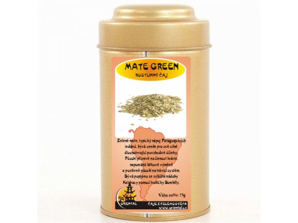 Rostlinný čaj Mate Green 75 g dóza