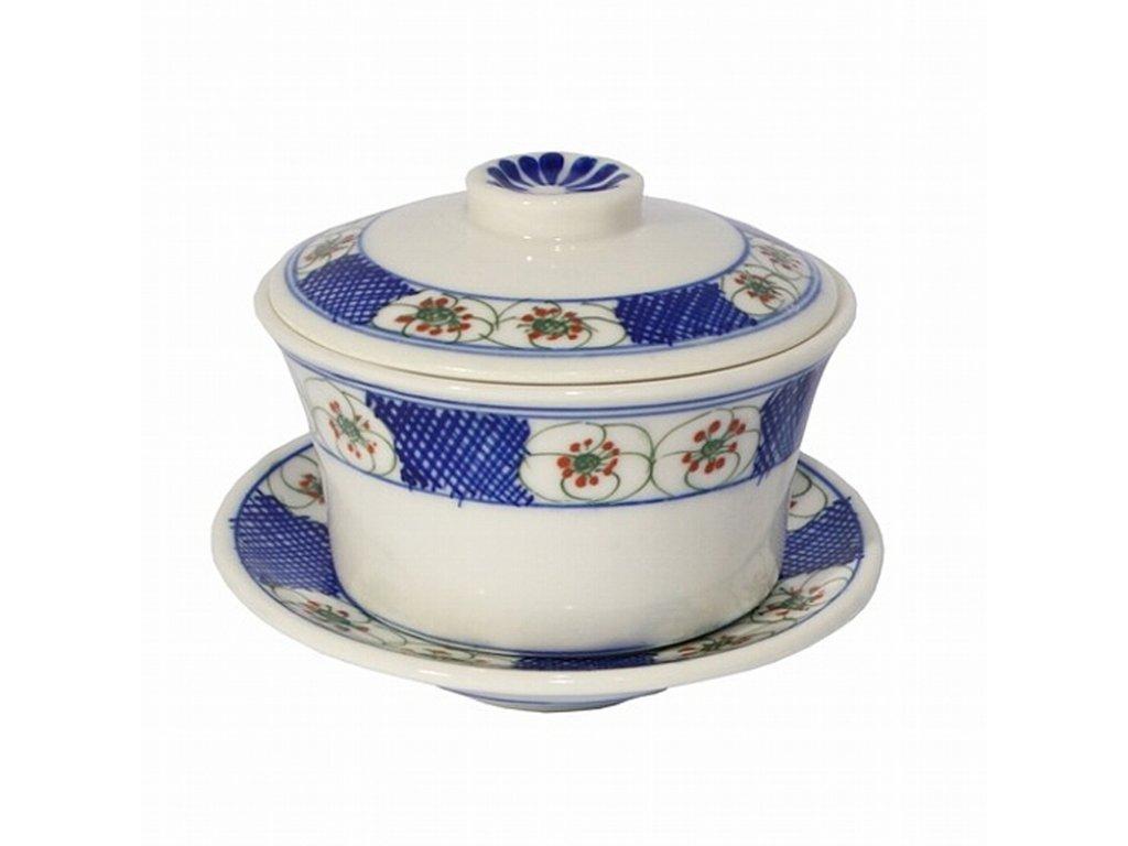 Zhong porcelánový modrobílý květiny