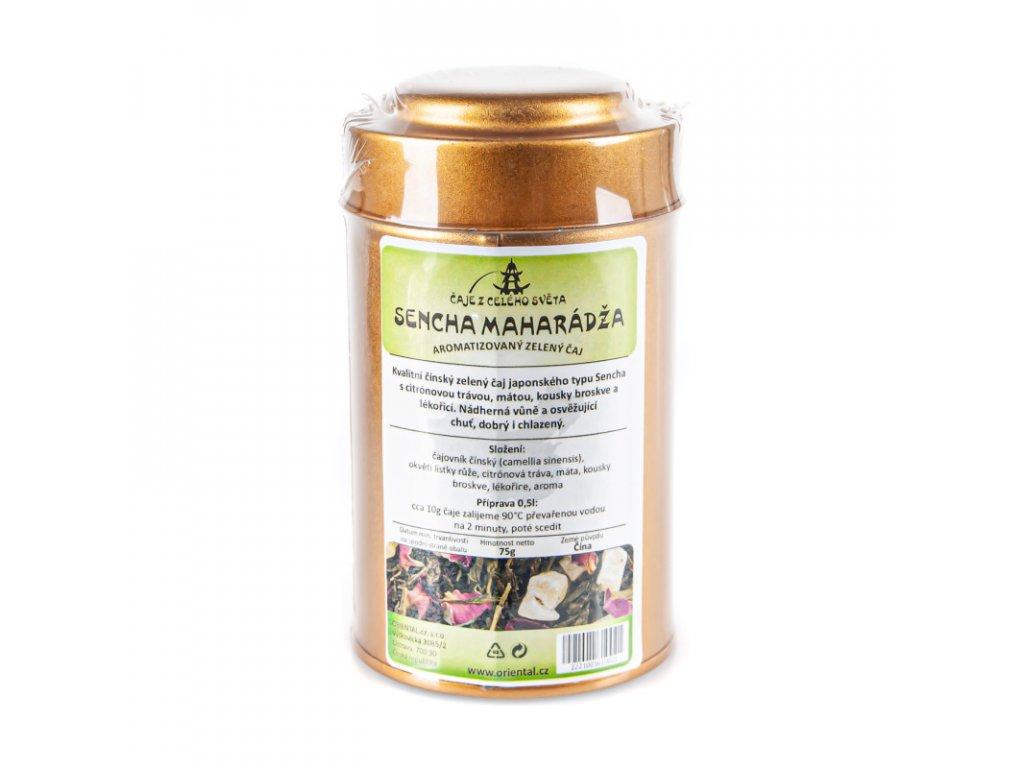 Čínský zelený čaj Sencha Maharádža 75 g dóza