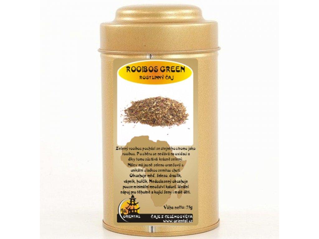 Rostlinný čaj Roibos Green supergrade 75 g dóza