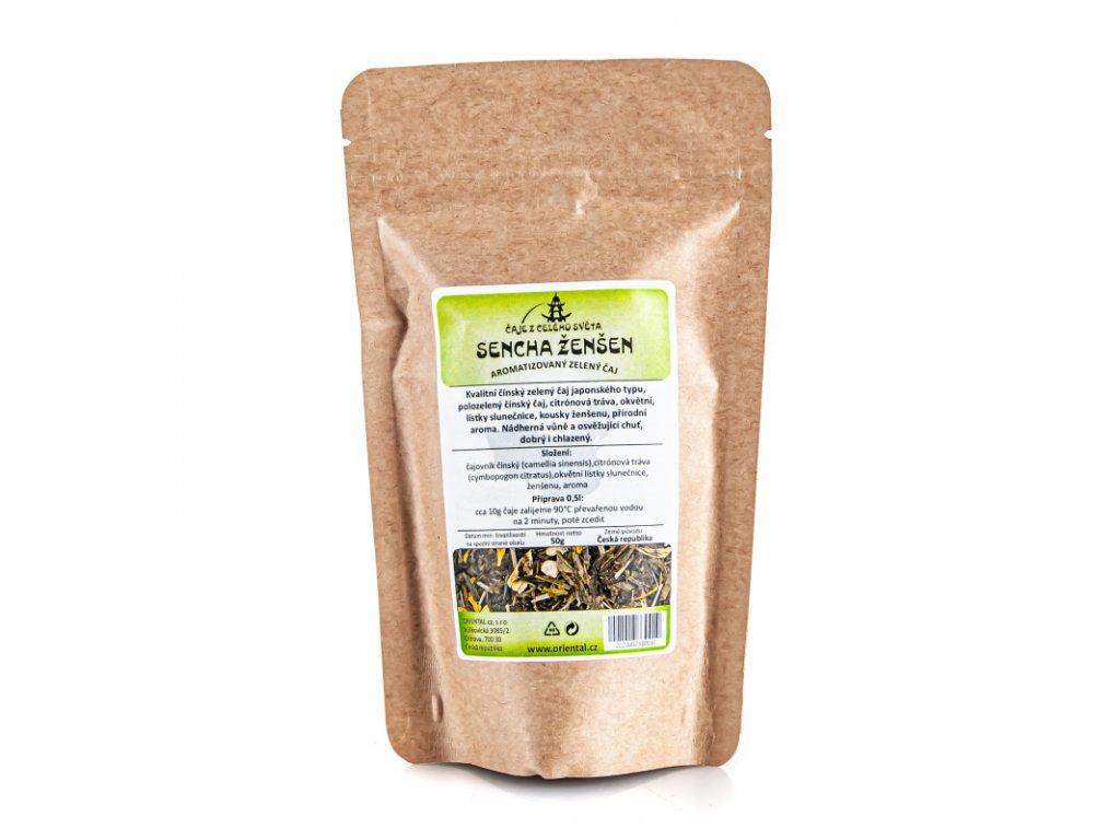 Čaj aromatizovaný Sencha Ženšen 50 g