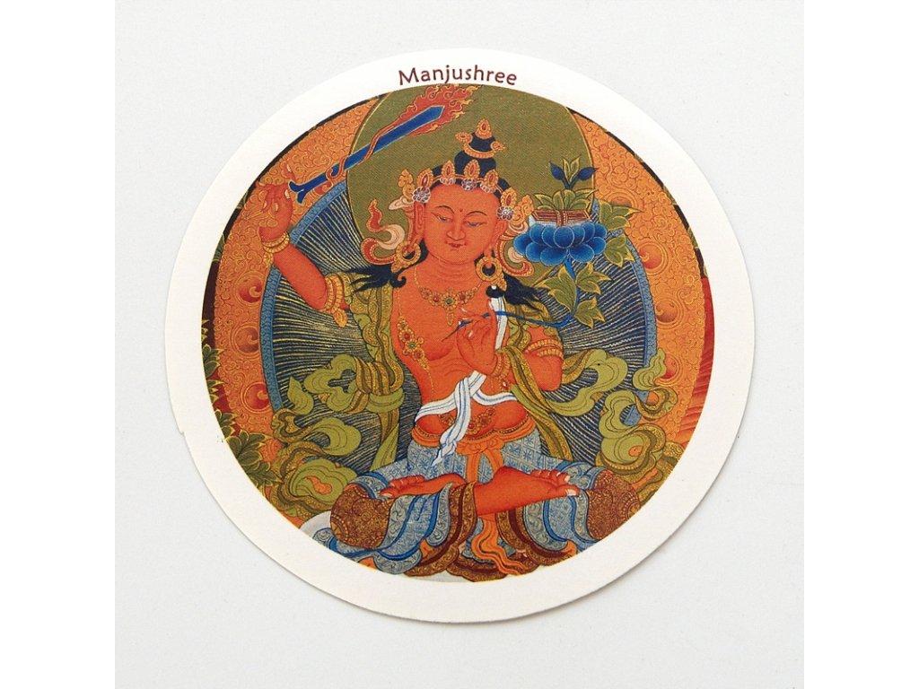 Samolepka Tibet - Manjushree - bílá