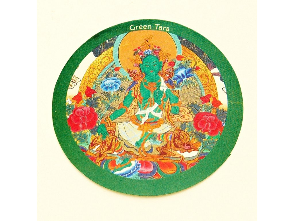 Samolepka Tibet - Green Tara