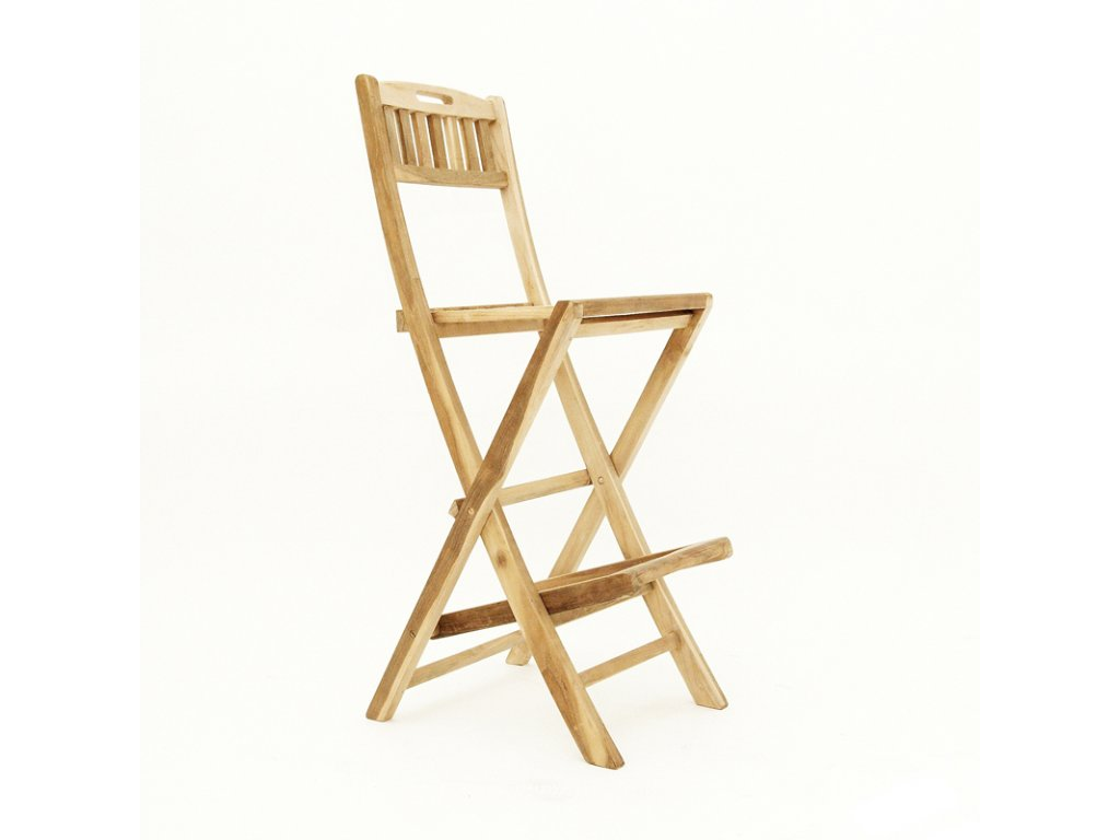 Teak - židle barová skládací