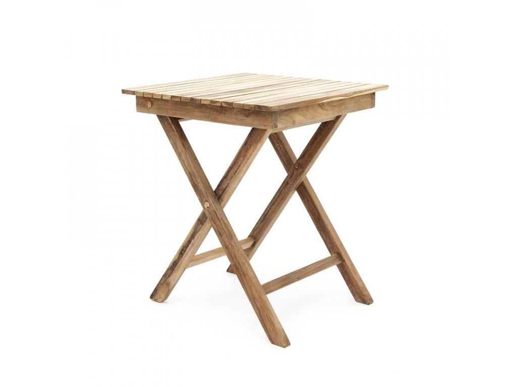 Teak - stůl čtverec skládací