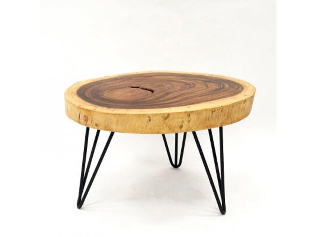 Konferenční stolek dřevo 60 x 70 cm 01