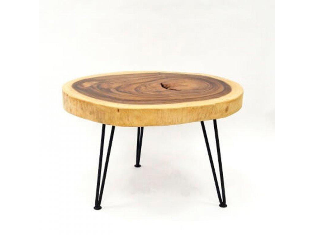 Konferenční stolek dřevo 60 x 70 cm 03