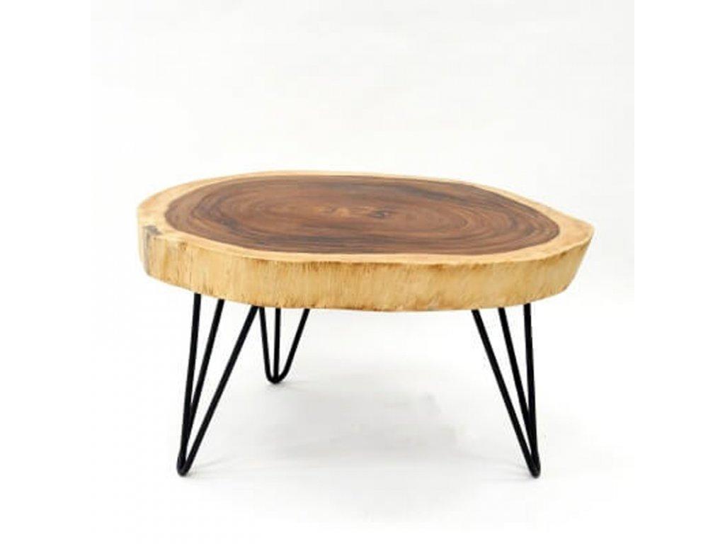 Konferenční stolek dřevo 60 x 80 cm 04