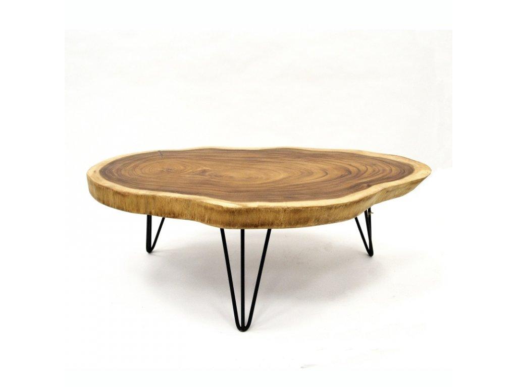 Konferenční stolek dřevo 90 x 100 cm 01
