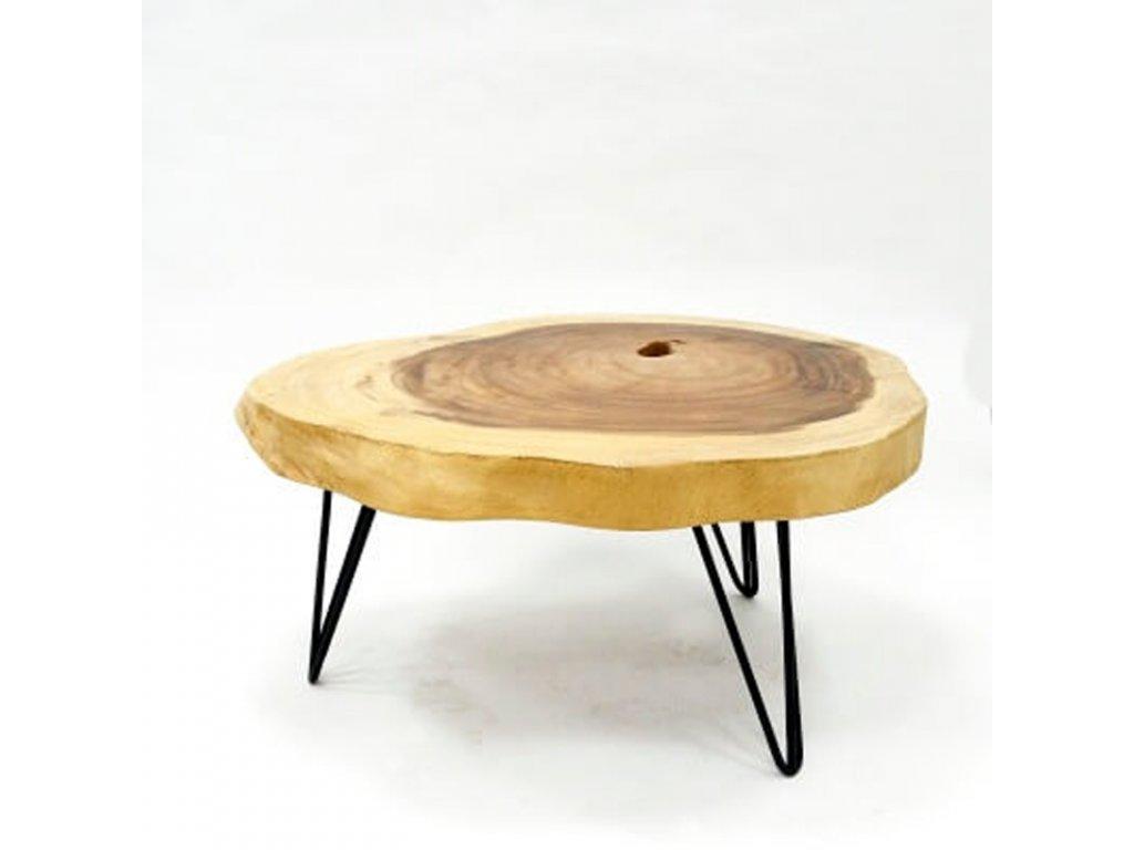 Konferenční stolek dřevo 90 x 100 cm 03