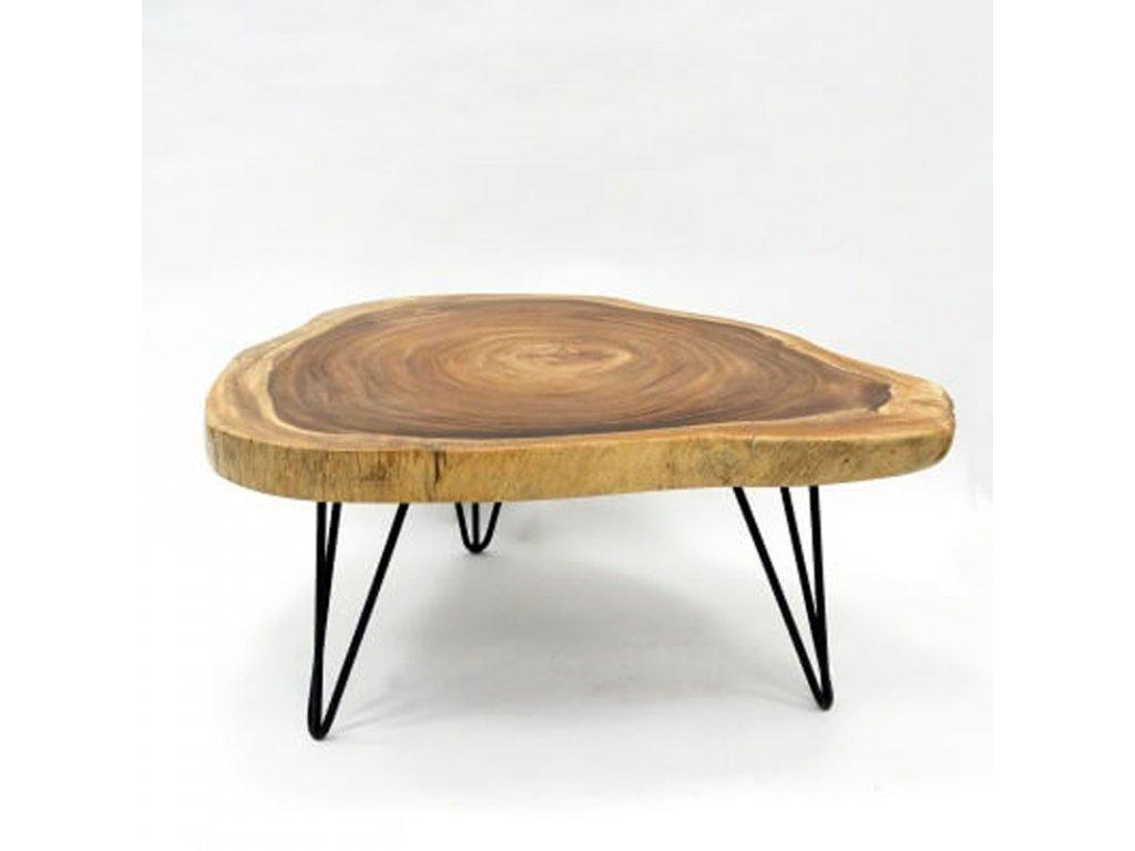 Konferenční stolek dřevo 90 x 100 cm 04