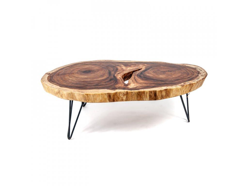 Konferenční stolek dřevo 90 x 100 cm 05