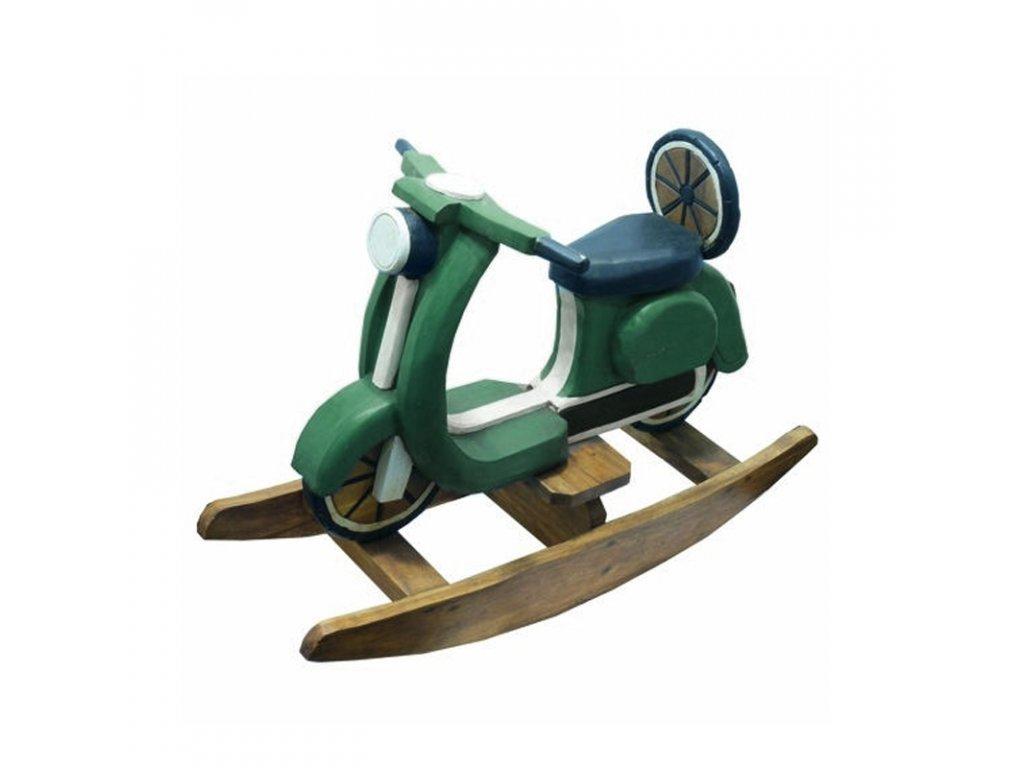 Dekorace dřevo - houpací motorka Vespa