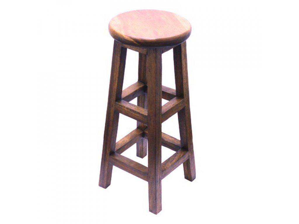 Stolička dřevo Round Plain 03