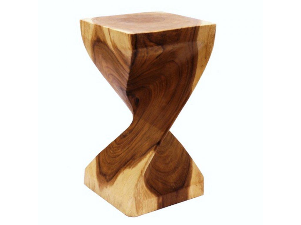 Stolička dřevo Square Single Twist dvoubarevná