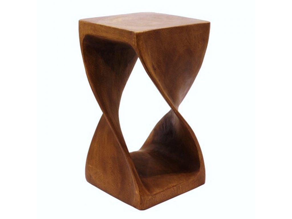 Stolička dřevo Square Twist