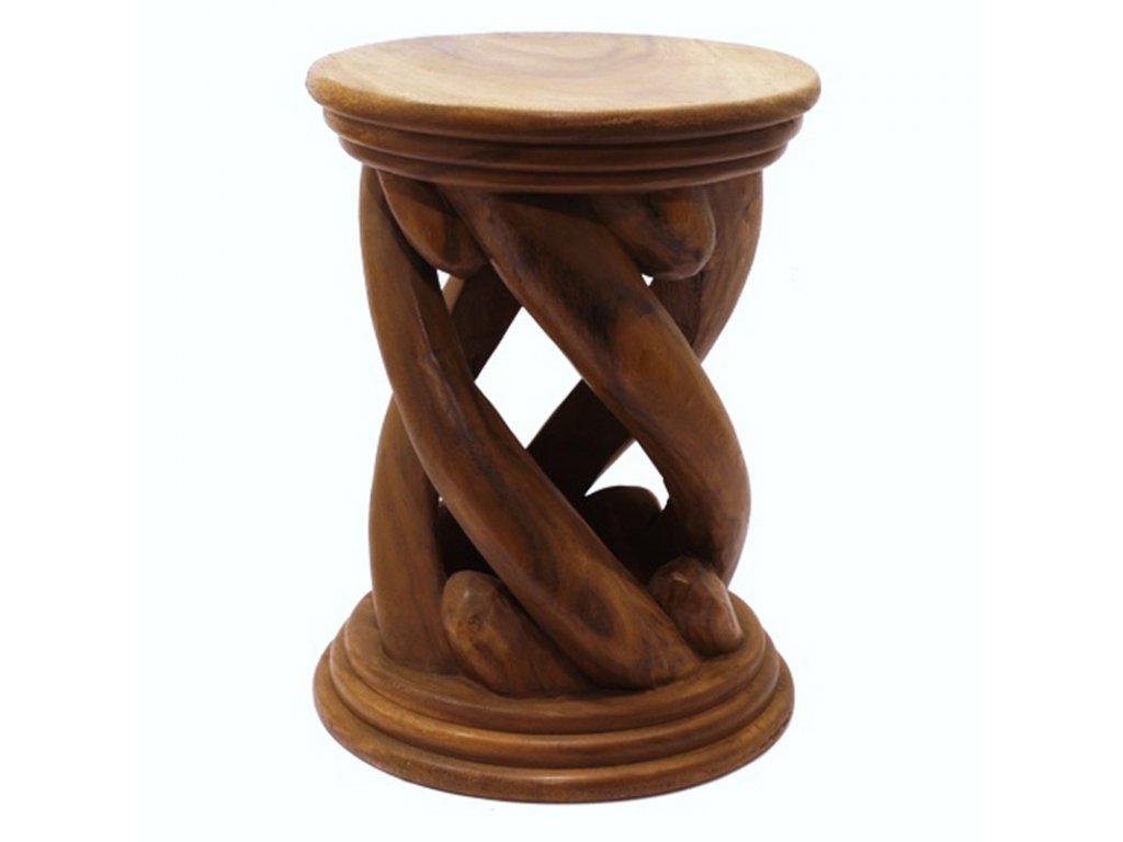 Stolička dřevo Round Spiral 02