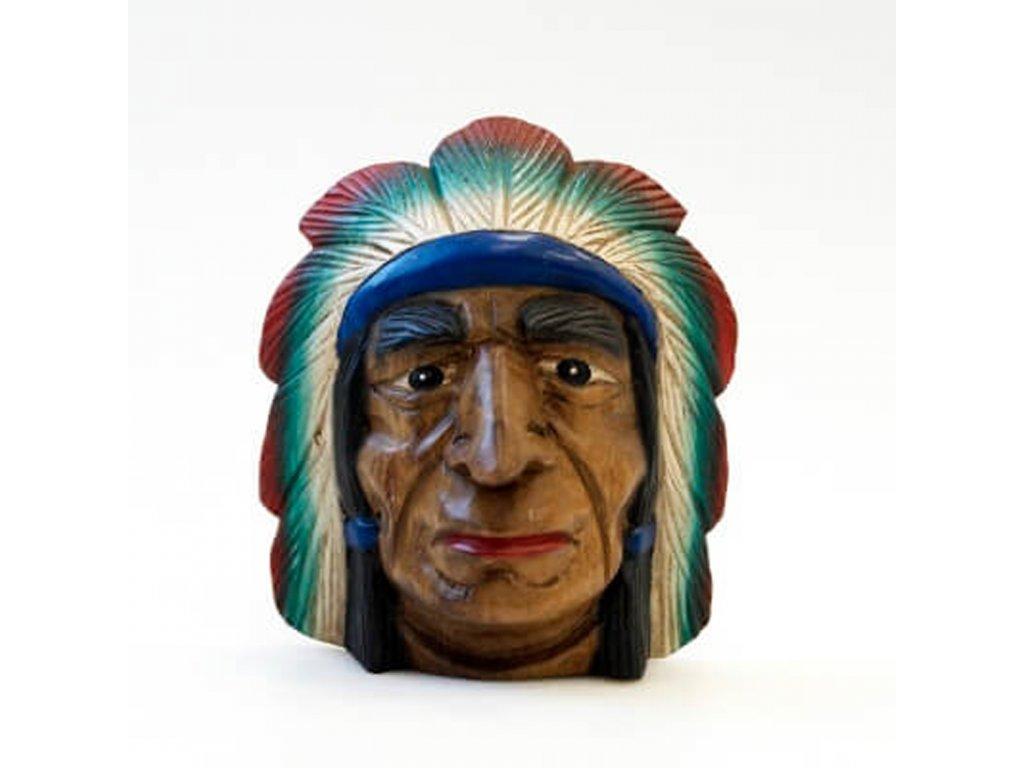 Závěsná dekorace dřevo Indián 21 cm