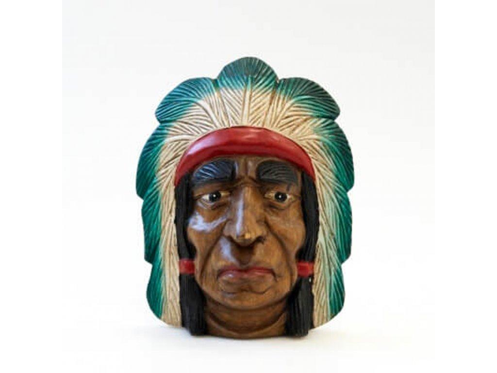 Závěsná dekorace dřevo Indián 26 cm