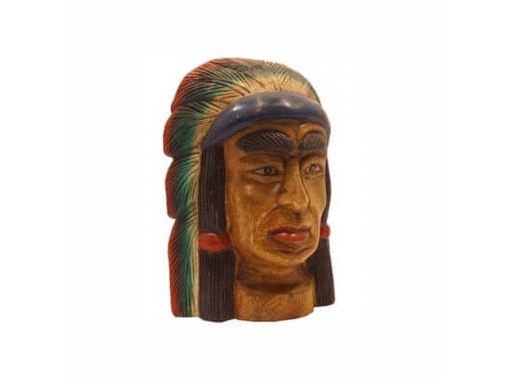 Závěsná dekorace dřevo Indián 32 cm