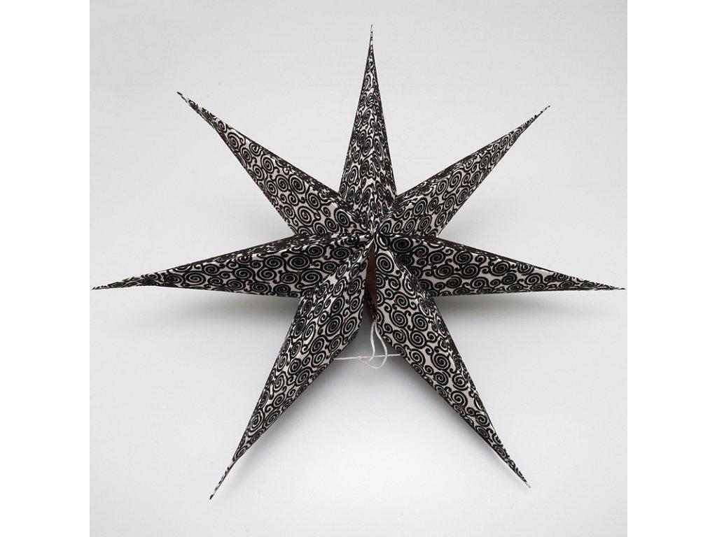 Lampion stínidlo hvězda Maya bílá