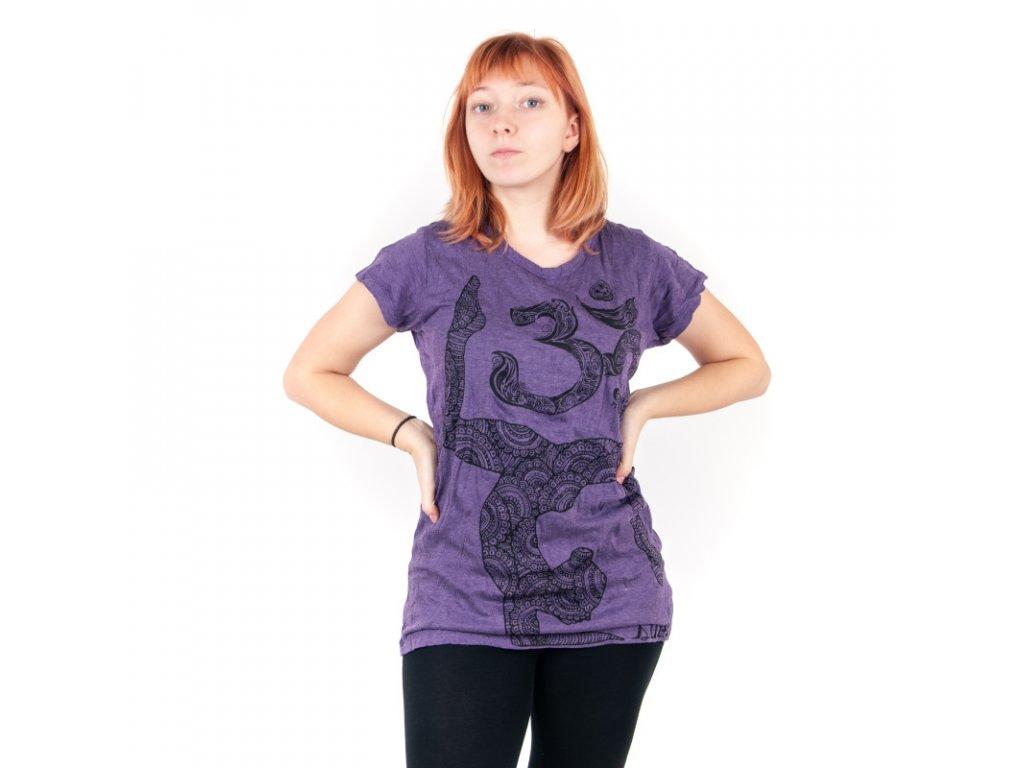 Tričko dámské SURE Yoga Ohm M fialová