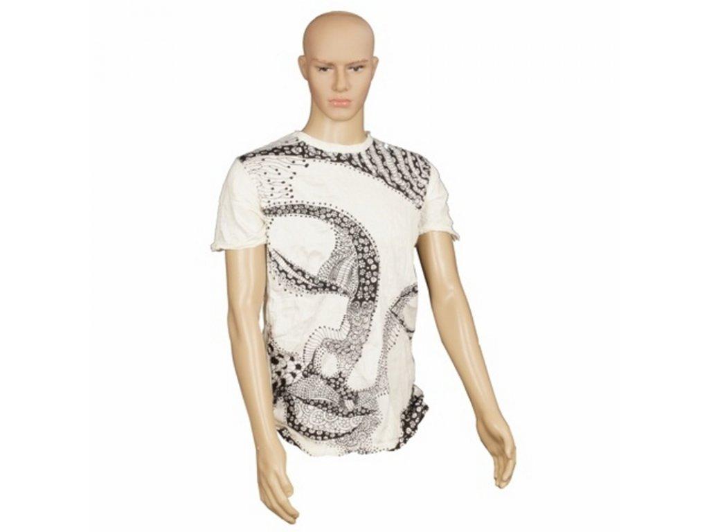 Tričko pánské SURE Buddha Face M bílá