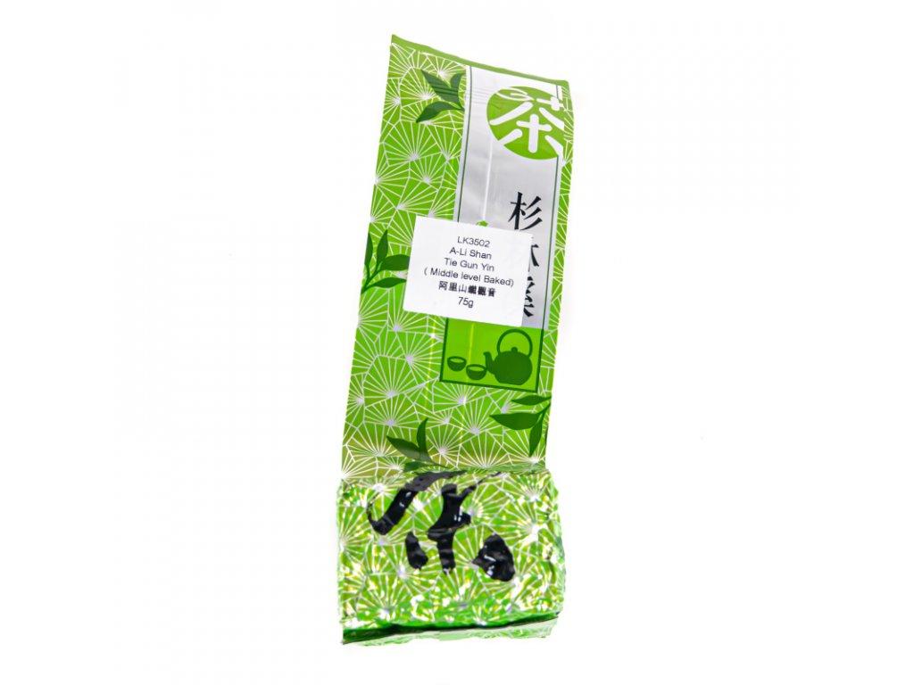 Taiwanský polozelený čaj Formosa A-Li Shan Tie Guan Yin Oolong 75 g
