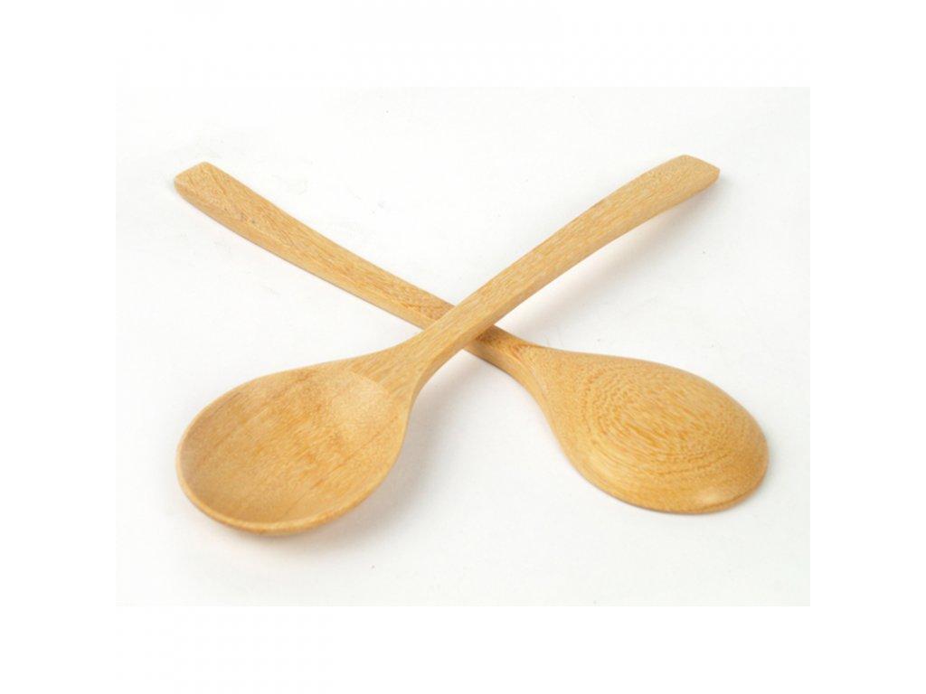 Lžíce dřevo 21 cm natural
