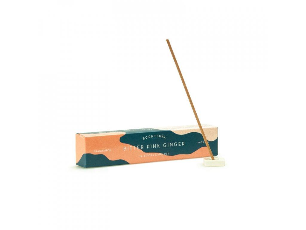 Japonské vonné tyčinky Nippon Scentsual Pink Ginger 30 ks