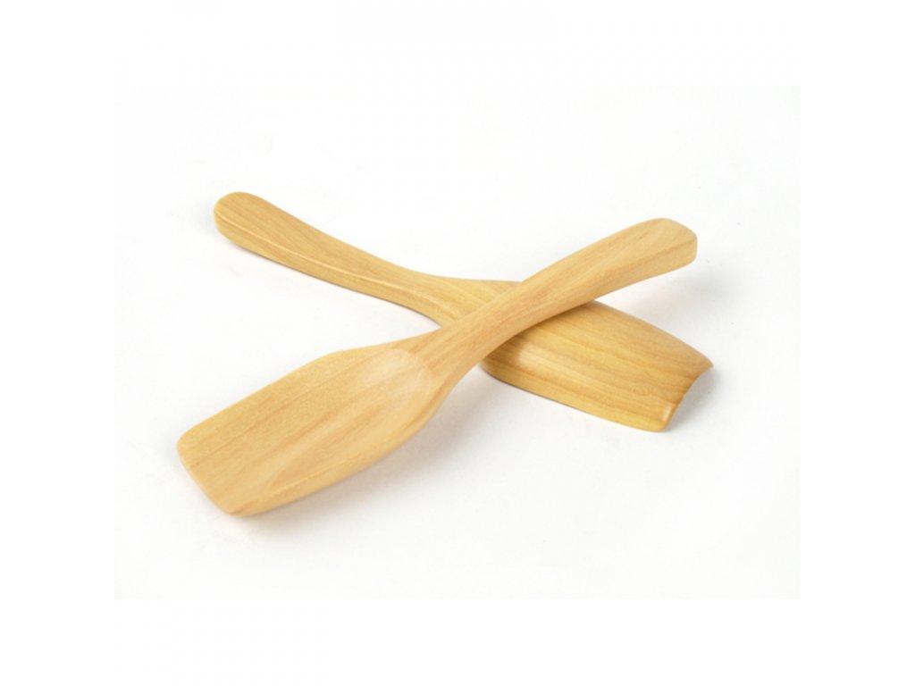 Lopatka na čaj dřevo 13 cm natural