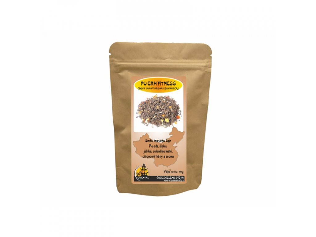 Čaj aromatizovaný Pu Erh Fitness 50 g