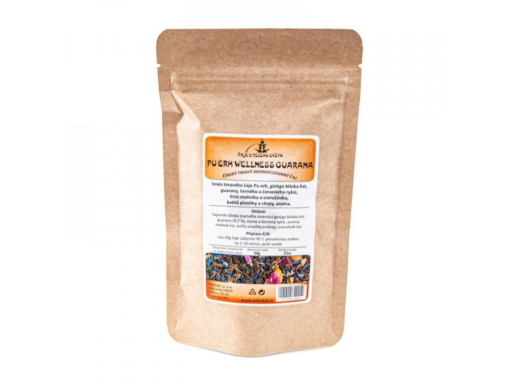 Čaj aromatizovaný Pu Erh Wellness Guarana 50 g