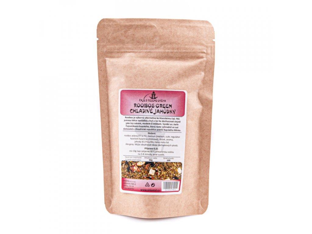 Bylinný čaj Rooibos Green Chladivé jahůdky 50 g