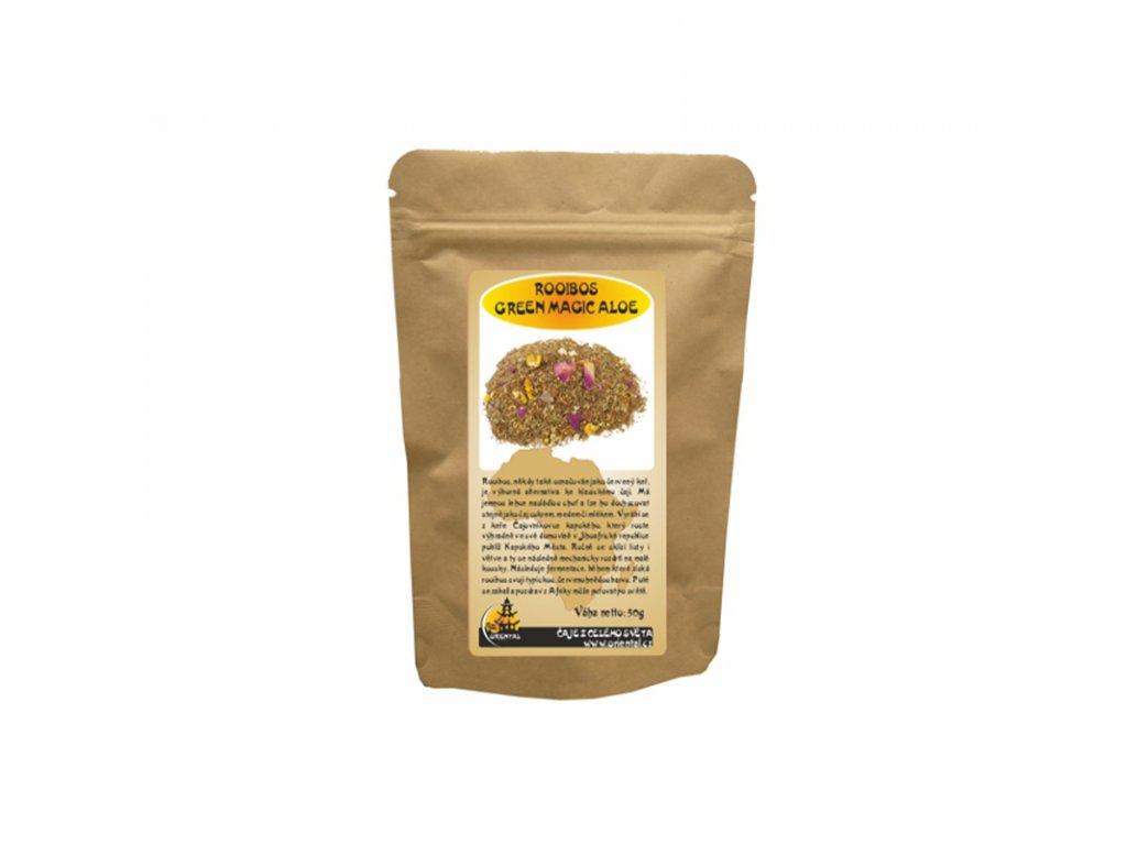 Bylinný čaj Rooibos Green Magic Aloe 50 g