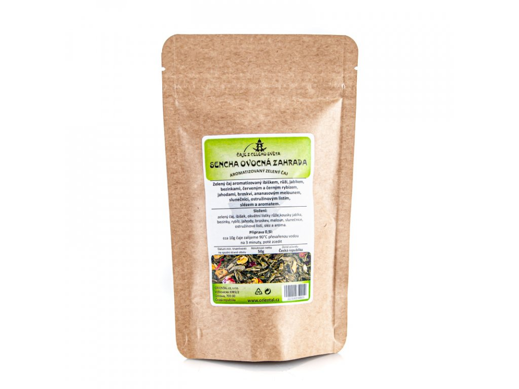 Čaj aromatizovaný Sencha Ovocná zahrada 50 g