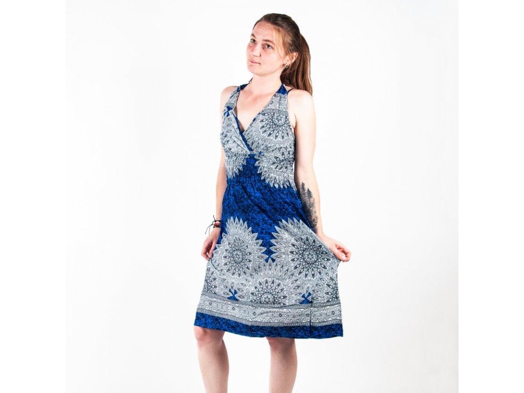 Šaty za krk Mandala Art modrá