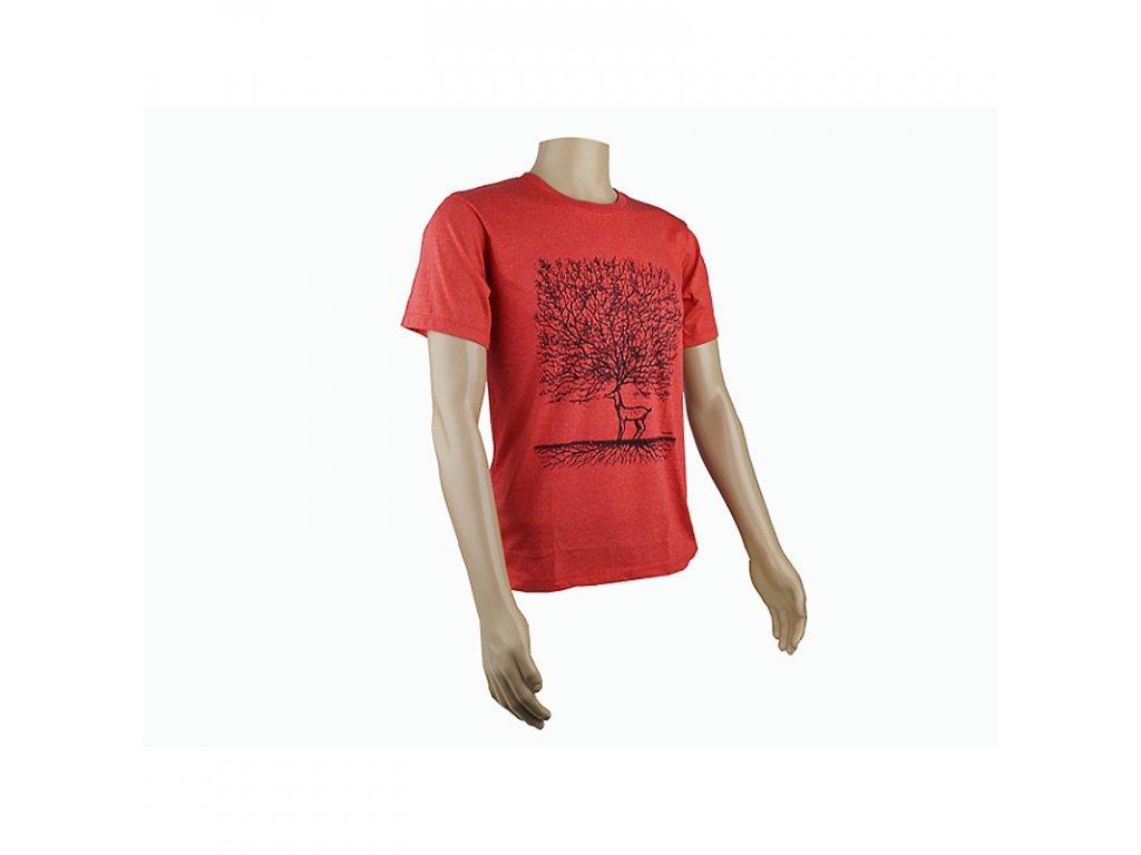 Tričko pánské Deer Tree M červená