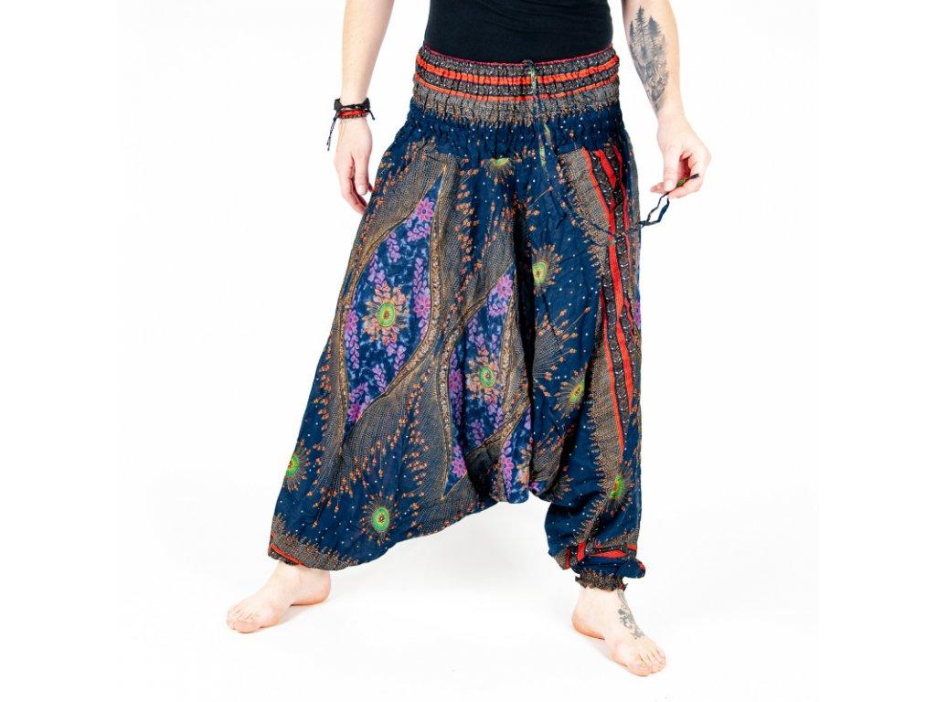 Kalhoty turecké dámské Heart Strings M tmavě modrá
