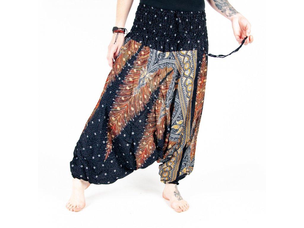 Kalhoty turecké dámské Feathers M růžová